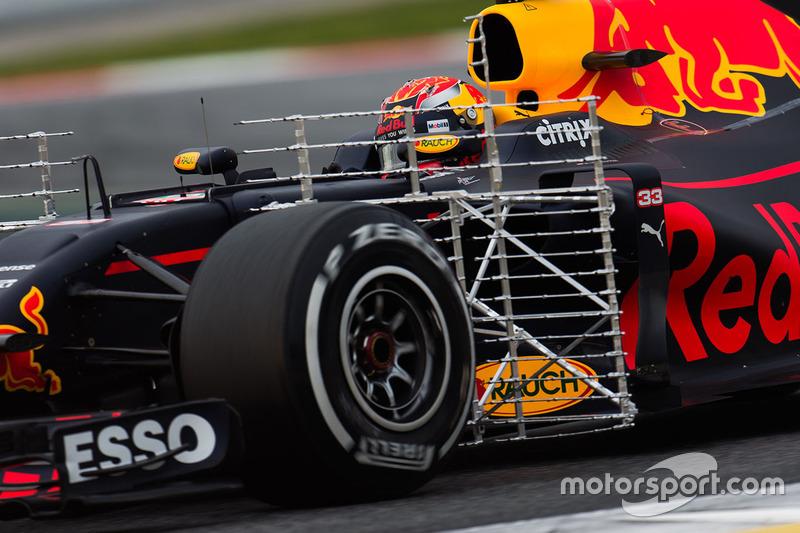 Max Verstappen, Red Bull Racing RB13 avec des capteurs