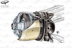 Williams FW35 front brake duct