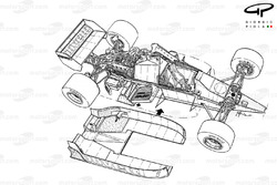 Brabham BT54 1985 detailed undertray overview