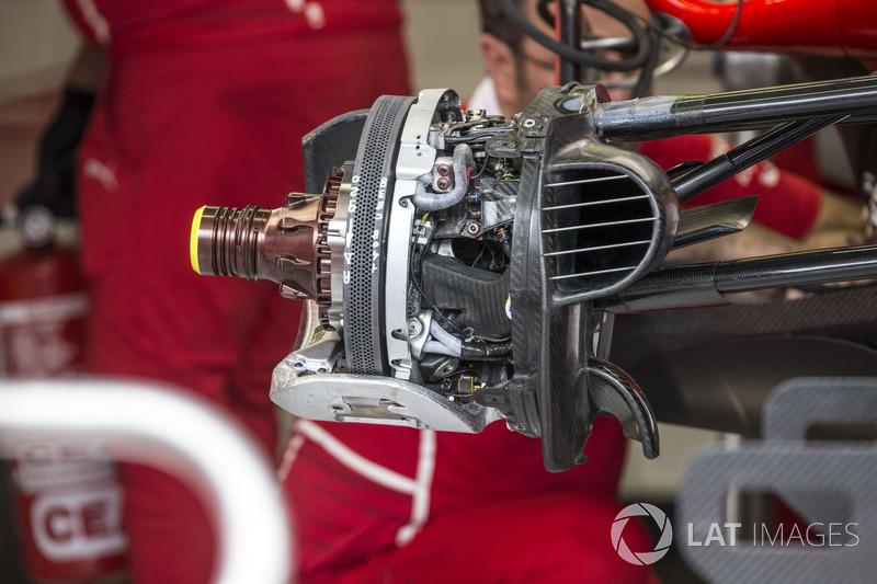 Ferrari SF70H, Voderradbremse und Radnabe
