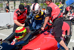 Motorsport.com contributor Anne Proffit trying the IndyCar Racing Experience