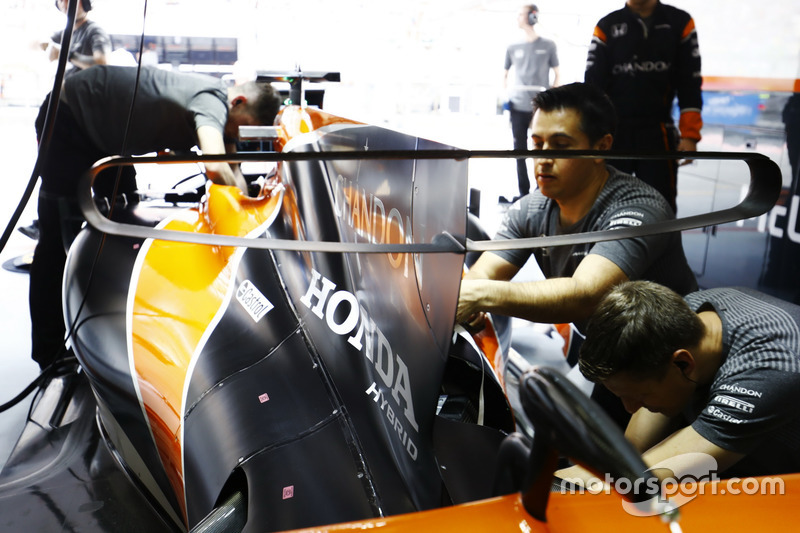 Le T-wing de la McLaren