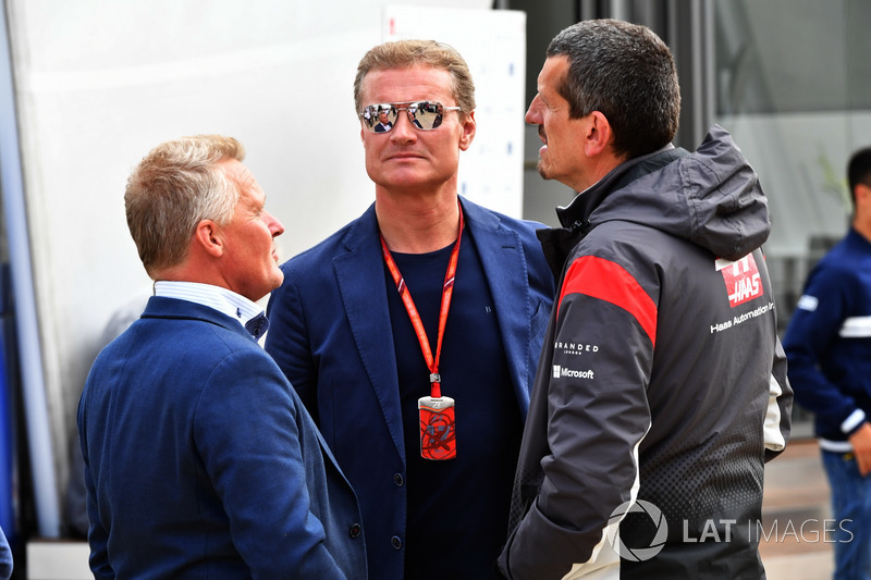 Johnny Herbert, Sky TV, David Coulthard, Channel Four TV Commentator and Guenther Steiner, Haas F1 Team Principal