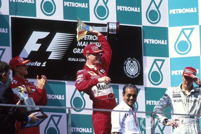 1999 : 1. Eddie Irvine, 2. Michael Schumacher, 3. Mika Häkkinen