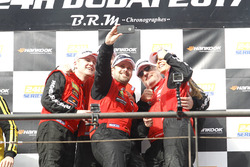 Podium: Winner AM #1 Hofor-Racing Mercedes AMG GT3: Michael Kroll, Chantal Kroll, Roland Eggimann, Kenneth Heyer, Christiaan Frankenhout