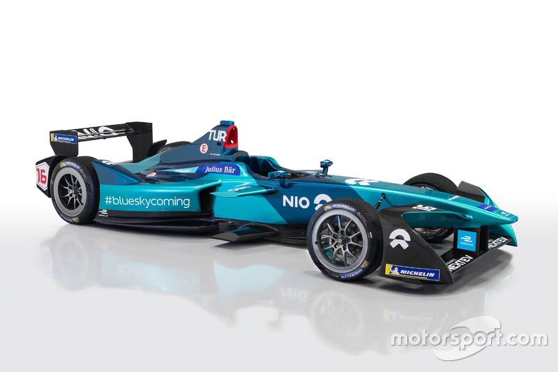 La monoplace NIO pour la saison 2017-18 de Formule E