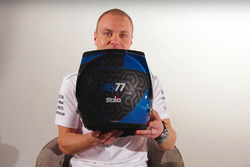 Valtteri Bottas, Mercedes AMG F1 presents his new helmet