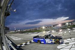 Brett Moffitt, Hattori Racing Enterprises, AISIN Atlanta Toyota Tundra takes the checkered flag