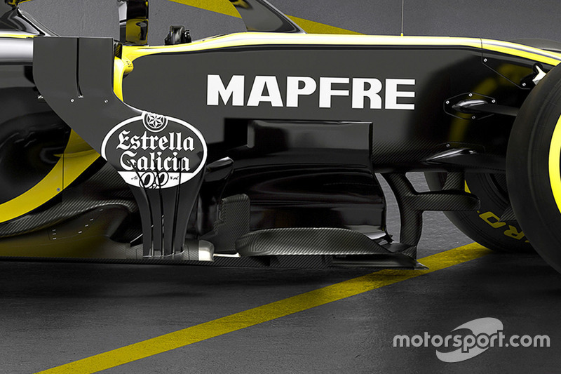 Дефлектор Renault F1 Team RS18
