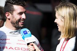 Jose Maria Lopez, Dragon Racing, talks to TV Presenter Nicki Shields