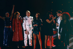 Mika Hakkinen and David Coulthard with the Spice Girls