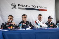Press Conference, Sébastien Loeb, Carlos Sainz, Bruno Famin, Stéphane Peterhansel, Peugeot Sport