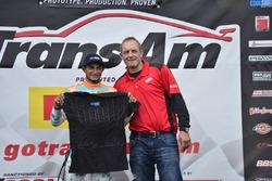 Cool Shirt Cool Move of the Race award winner Ernie Francis Jr.