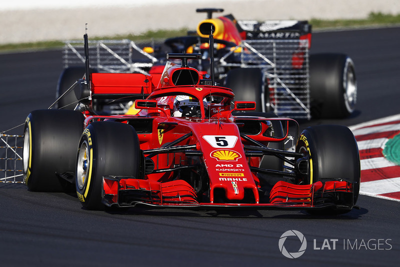 Sebastian Vettel, Ferrari SF71H, carries sensor equipment