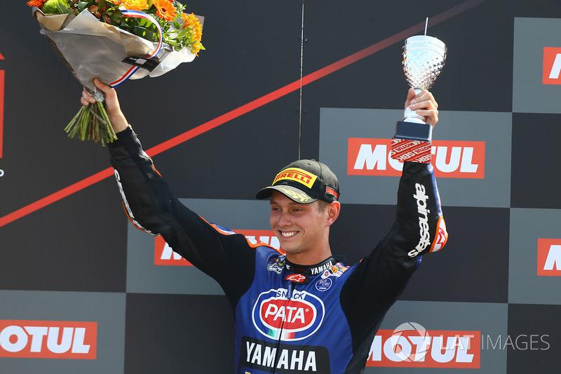 Sur le podium, le troisième, Michael van der Mark, Pata Yamaha