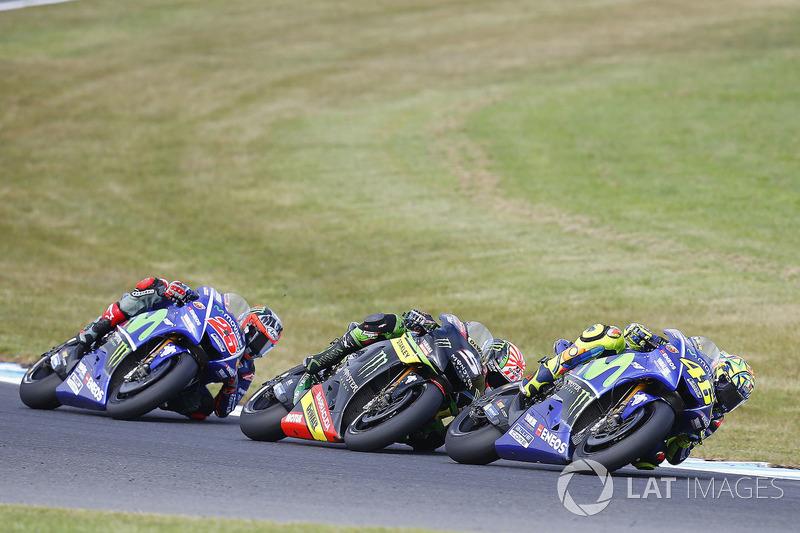Валентино Россі, Yamaha Factory Racing, Жоанн Зарко, Monster Yamaha Tech 3, Маверік Віньялес, Yamaha Factory Racing