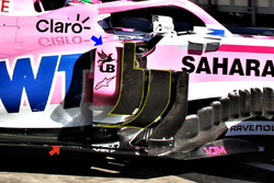Force India VJM11 deflectors detail
