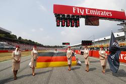 Emirates-dames op de grid