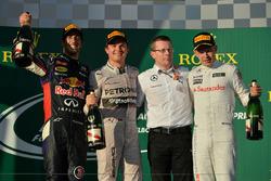 Podium: 1. Nico Rosberg, Mercedes; 2. Daniel Ricciardo, Red Bull; 3. Kevin Magnussen, McLaren
