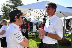 Fernando Alonso, McLaren and Gabriele Mazzarolo, CEO Alpinestars