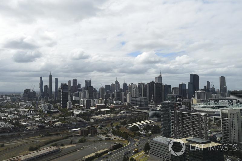 Melbourne şehir görünümü