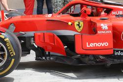 Ferrari SF71H sidepods detail