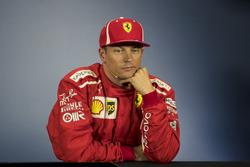 Kimi Raikkonen, Ferrari, nella conferenza stampa