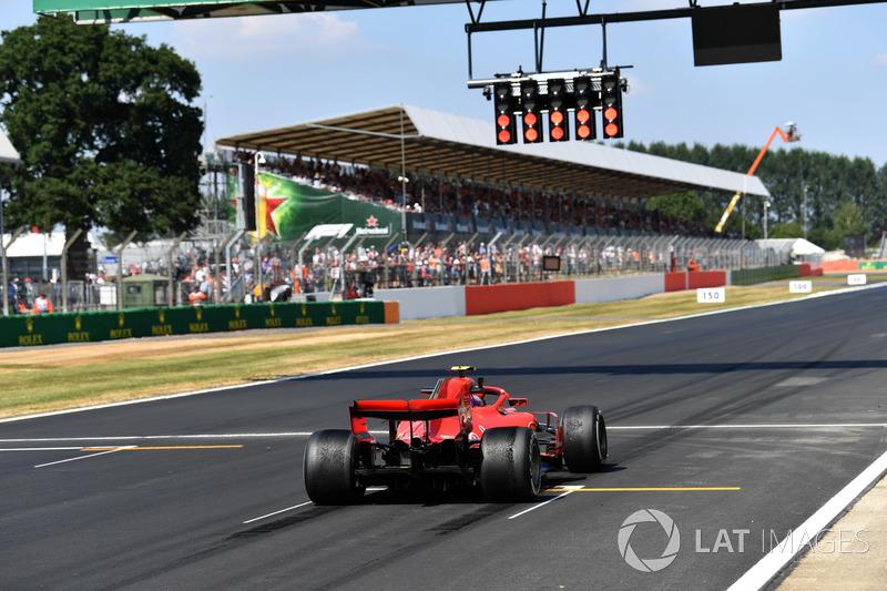 Kimi Raikkonen, Ferrari SF71H fait des essais de départ