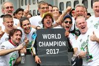 Franco Morbidelli, Marc VDS, troisième de la course et Champion du monde
