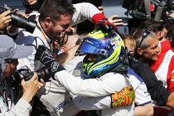 Le troisième Felipe Massa, Williams F1, dans le parc fermé