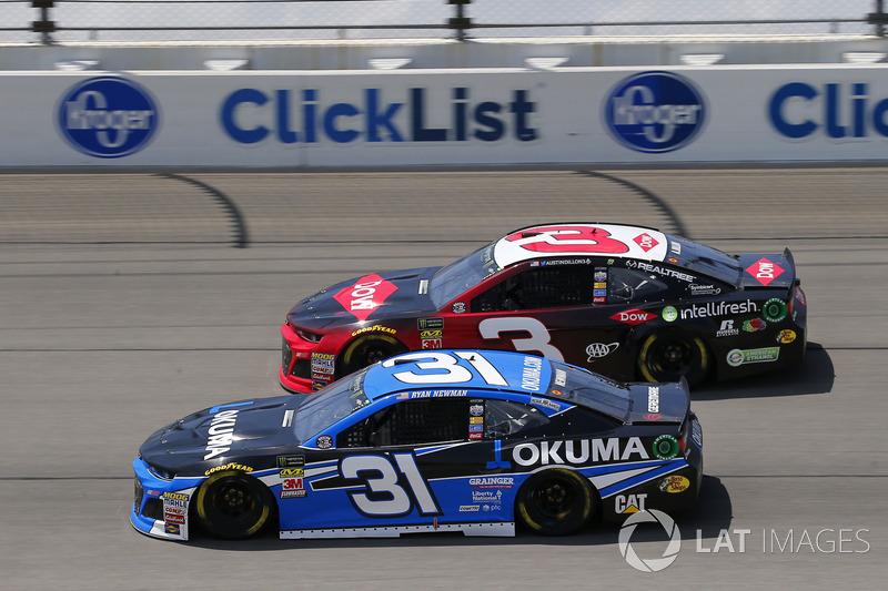 Ryan Newman, Richard Childress Racing, Chevrolet Camaro e Austin Dillon, Richard Childress Racing, Chevrolet Camaro Dow Intellifresh