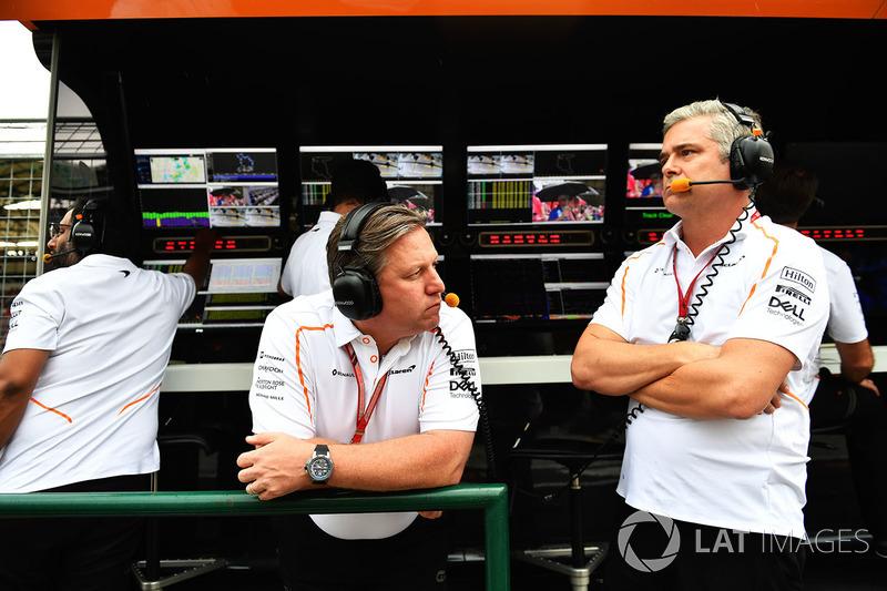Zak Brown, McLaren Racing CEO, Gil De Ferran, McLaren Sporting Director
