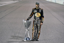 Martin Truex Jr., Furniture Row Racing Toyota celebrates winning the 2017 Monster Energy Cup Series Championship
