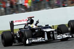 Yarış galibi Pastor Maldonado, Williams FW34 celebrate