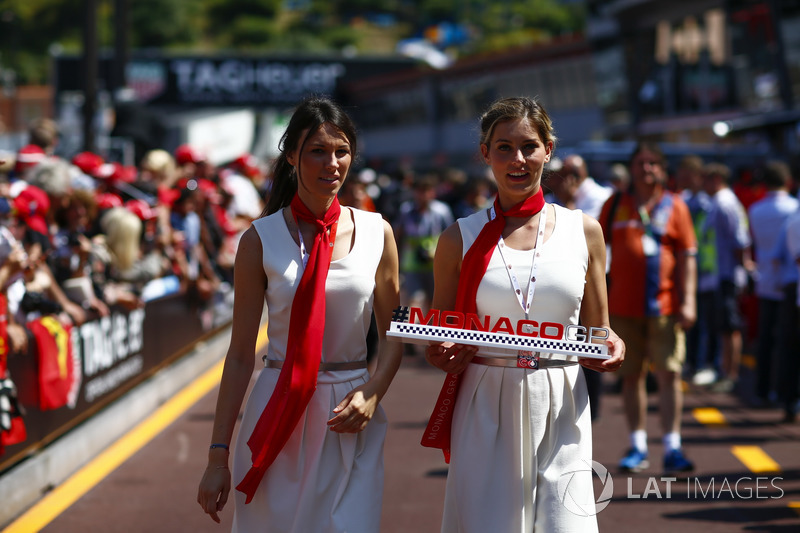 Monaco Grand Prix promotional girls