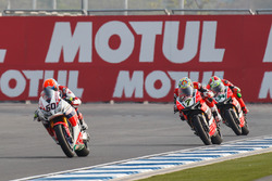 Michael van der Mark, Honda WSBK Team, Chaz Davies, Aruba.it Racing - Ducati Team en Davide Giuglian