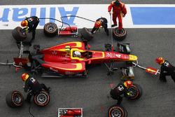 Jordan King, Racing Engineering makes a pit stop