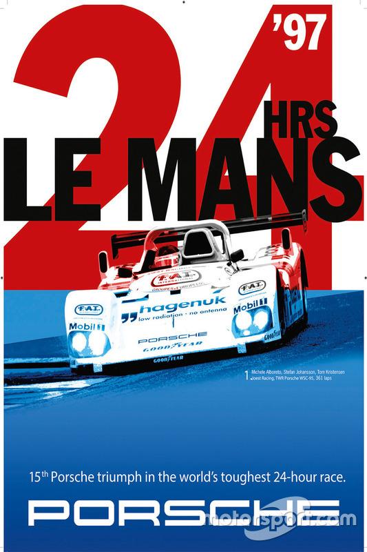 Poster Porsche 24h de Le Mans 1997