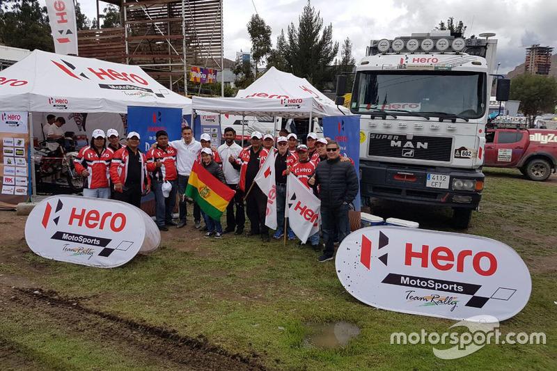 Joaquim Rodrigues, CS Santosh, Hero MotoSports Team Rally con fans