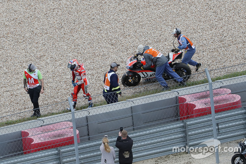 Andrea Dovizioso, 6 kali kecelakaan