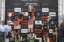 Podio MX2: Pauls Jonass, Jorge Prado, Julien Lieber