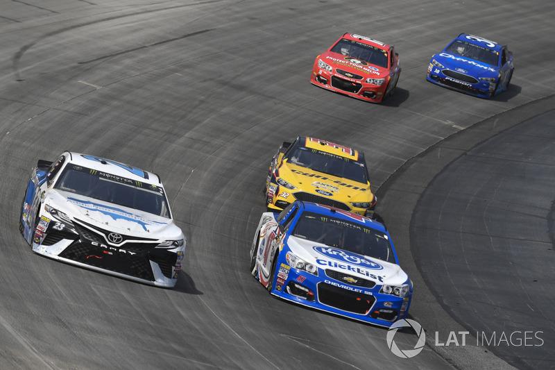 Gray Gaulding, BK Racing, Toyota; A.J. Allmendinger, JTG Daugherty Racing, Chevrolet; Matt DiBenedet