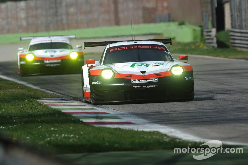 #91 Porsche Team, Porsche 911 RSR: Richard Lietz, Frédéric Makowiecki; #92 Porsche Team, Porsche 911 RSR: Michael Christensen, Kevin Estre
