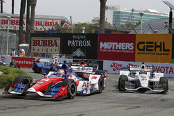 Carlos Munoz, A.J. Foyt Enterprises, Chevrolet; J.R. Hildebrand, Ed Carpenter Racing, Chevrolet