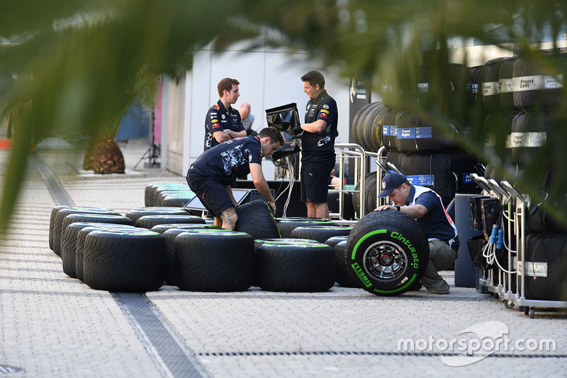 Red Bull Racing and Pirelli tyres