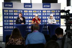 Conférence de presse : Maxime Martin, BMW Team RBM, BMW M4 DTM, Mike Rockenfeller, Audi Sport Team Phoenix, Audi RS 5 DTM, Lucas Auer, Mercedes-AMG Team HWA, Mercedes-AMG C63 DTM