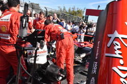 Car of Sebastian Vettel, Ferrari SF70H on the starting grid