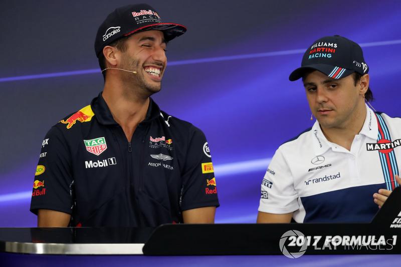 Даніель Ріккардо, Red Bull Racing, Феліпе Масса, Williams in the Press Conference