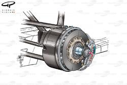 Position de l'étrier de frein de la BAR 004