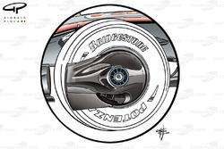 McLaren MP4-23 front wheel spinner